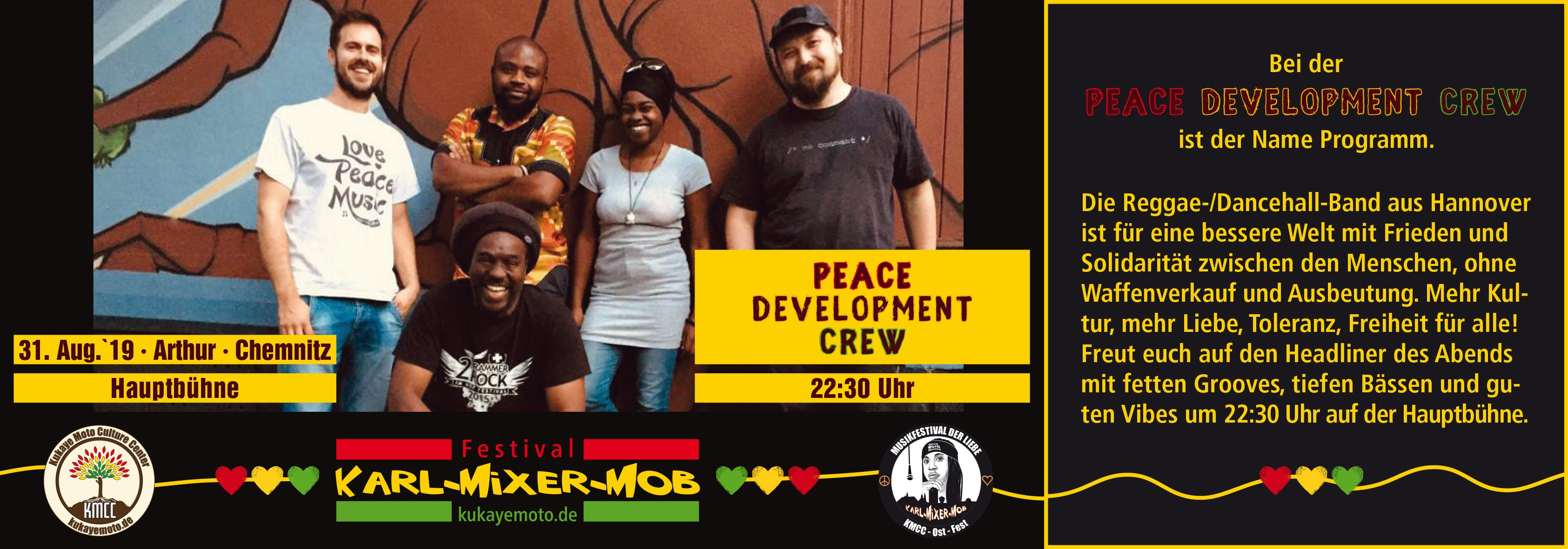 Ankündigung Peace Development Crew